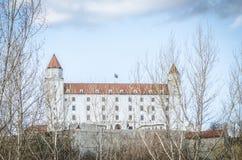 Замок Словакия SlovakiaBratislava замка Братиславы Стоковые Изображения RF