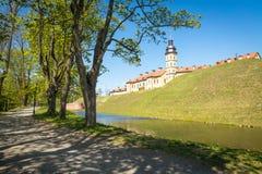 Замок сложное Nyasvizh в Беларуси Стоковые Фотографии RF