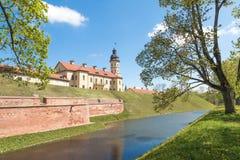 Замок сложное Nyasvizh в Беларуси Стоковое фото RF