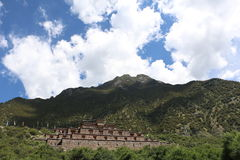 замок Тибета Стоковые Фотографии RF