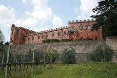 замок Тоскана brolio Стоковое Изображение