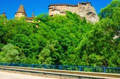 Замок увиденный от моста, Словакия Orava Стоковое Фото