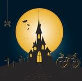 Замок ужаса хеллоуина Стоковые Фото