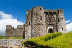 Замок Уэльс Kidwelly Стоковое Изображение RF