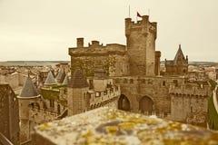 Замок фантазии тонизированное изображение Стоковое Изображение RF