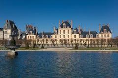 Замок Фонтенбло, Сен et Марнаа, Иль-де-Франс стоковые фотографии rf