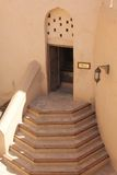 Замок форта Nizwa, лестницы Стоковое фото RF