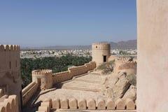 Замок форта Nizwa, Оман Стоковые Фотографии RF