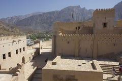 Замок форта Nizwa, Оман Стоковая Фотография RF