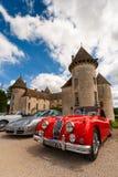 Замок Франции автомобиля ягуара стоковые изображения