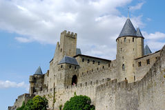 замок Франция carcassonne южная Стоковые Изображения