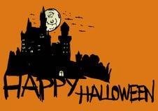 Замок хеллоуина Стоковые Изображения