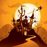 Замок хеллоуина иллюстрация вектора