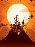 Замок хеллоуина Стоковое Фото