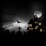 Замок хеллоуина Стоковые Фото