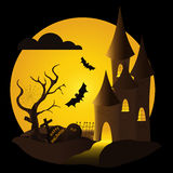 Замок хеллоуина Стоковые Фотографии RF