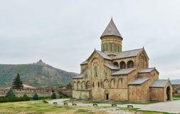Замок церков Svetitskhoveli старый в Georgia Стоковые Фотографии RF