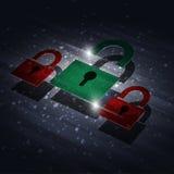 Замок цифров безопасностью Стоковые Изображения