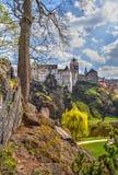 замок чех заключил его короля karl республика loket была где молодость Стоковое Изображение RF