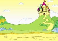 Замок шаржа Стоковые Фотографии RF
