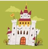 Замок шаржа иллюстрация штока