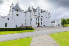Замок Шотландия Блэр в лете белый замок Стоковое Фото