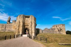 Замок Шотландия Великобритания Европа Alnwick стоковое фото
