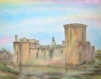 замок Шотландия caerlaverock бесплатная иллюстрация