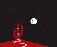Замок дьявола иллюстрация вектора