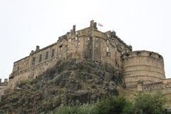 Замок Эдинбурга в Эдинбурге, Шотландии стоковая фотография