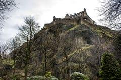 Замок Эдинбурга Стоковые Фотографии RF