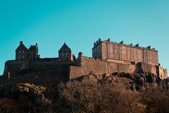 Замок Эдинбурга в Эдинбурге, Шотландии, Великобритании стоковая фотография rf