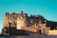Замок Эдинбурга в Эдинбурге, Шотландии, Великобритании стоковое изображение
