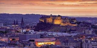 Замок Эдинбурга Стоковые Изображения