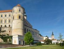 Замок южная Моравия Mikulov стоковые фотографии rf