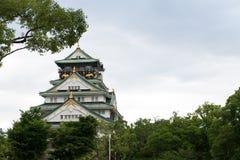 Замок япония Осака Стоковые Фотографии RF
