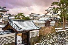 Замок Япония Kanazawa стоковые изображения rf