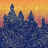 Замок яркий Стоковое Изображение