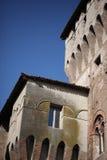 замок детализирует средневековое Стоковое Изображение
