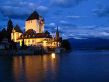 замок 03 oberhofen Швейцария Стоковые Фото