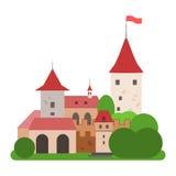Замок иллюстрация штока