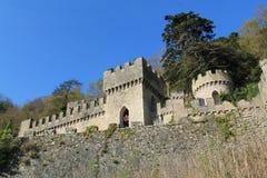 Замок Abergele, северное Уэльс, Великобритания стоковая фотография rf