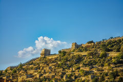 Замок Alanya (alanya, Турция) стоковые изображения rf