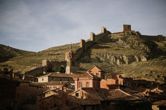 Замок Albarracin, Испании Стоковые Изображения