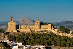 Замок Alcazaba Antequera в провинции Малага o стоковые фотографии rf