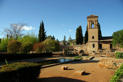 замок alhambra стоковое фото