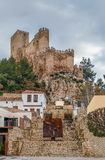 Замок Almansa, Испании Стоковые Изображения
