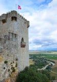 Замок Almodovar над плодородной долиной реки Гвадалквивира Стоковые Фото