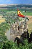 Замок Almodovar над плодородной долиной реки Гвадалквивира Стоковое Фото