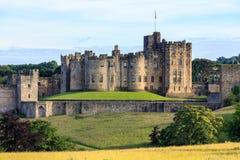 Замок Alnwick, Англия Стоковые Изображения
